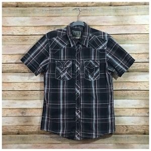 Buckle BKE Casual Slim Fit Plaid Button Down Shirt